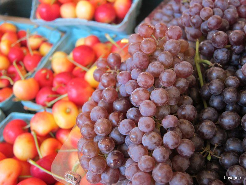 Grapes at market
