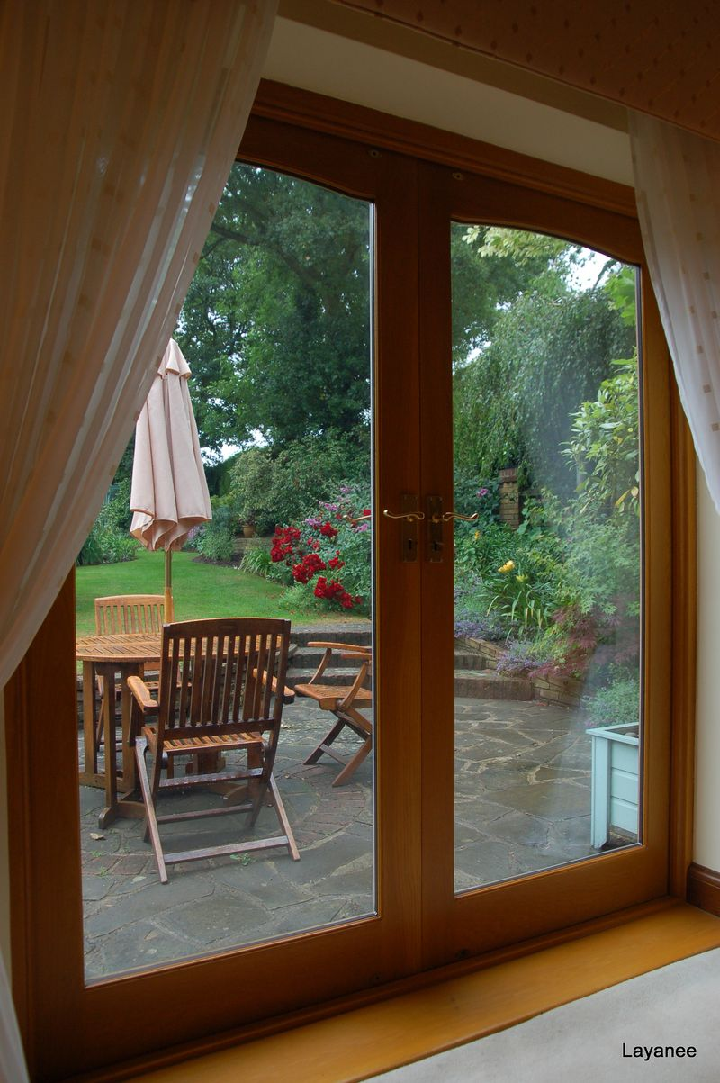 View from the tea room Orchard Cottage