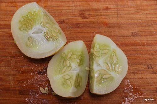 Seeds of lemon cuke